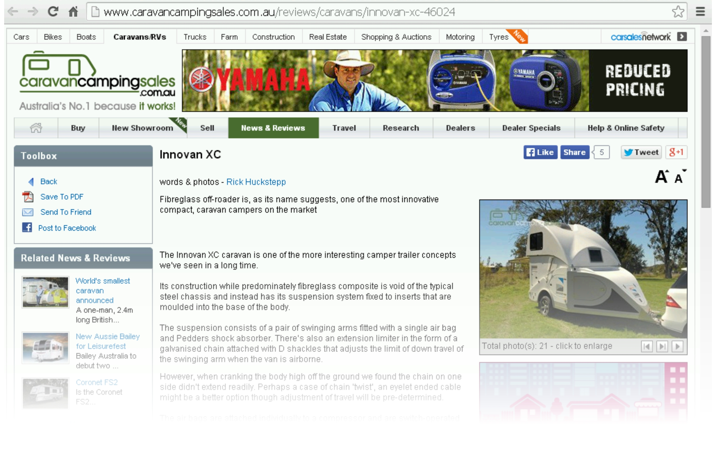 Caravan Camping Sale Review