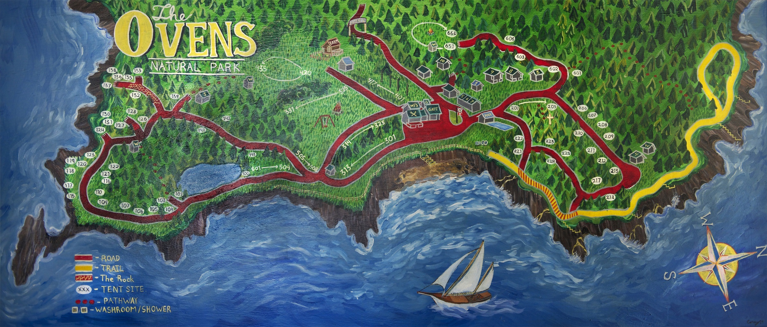 Ovens Park Map by Corey J. Isenor.