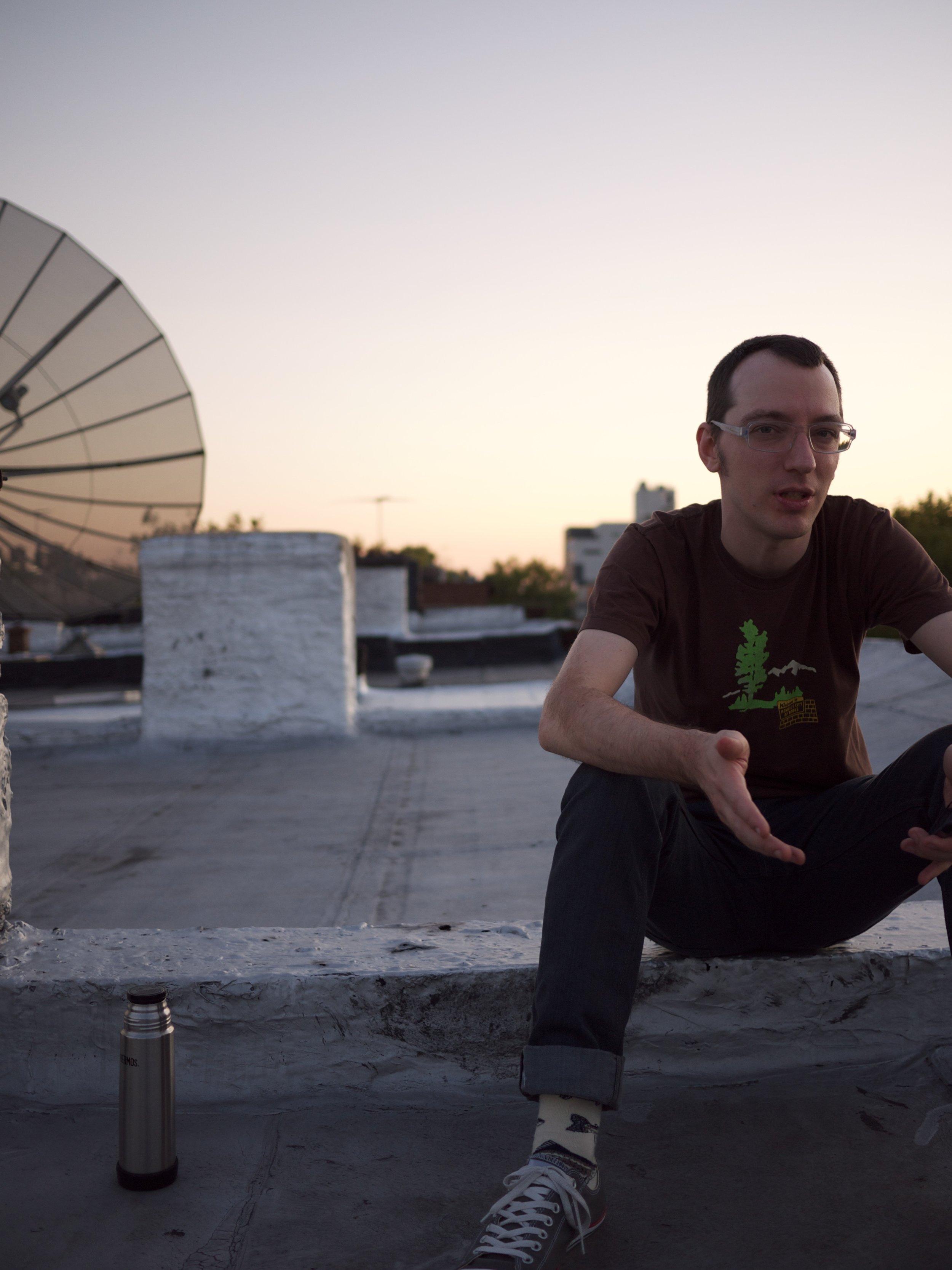 Peter on roof.jpg