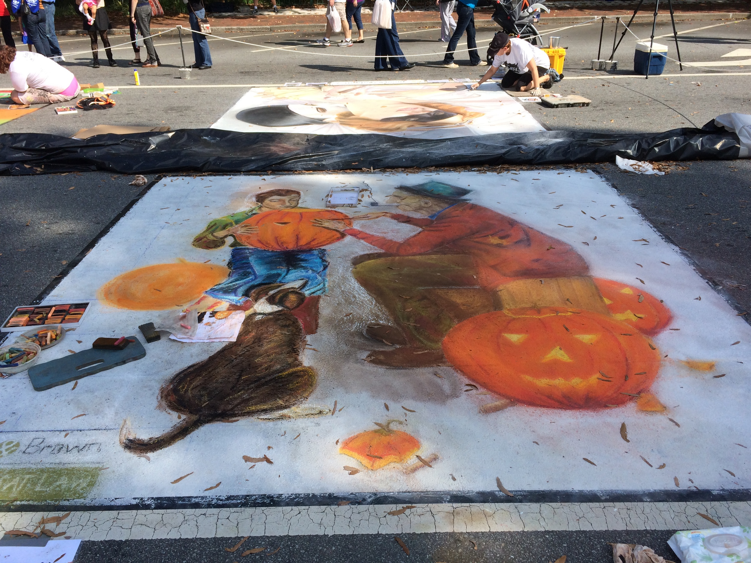 Chalk art on the Marietta Square