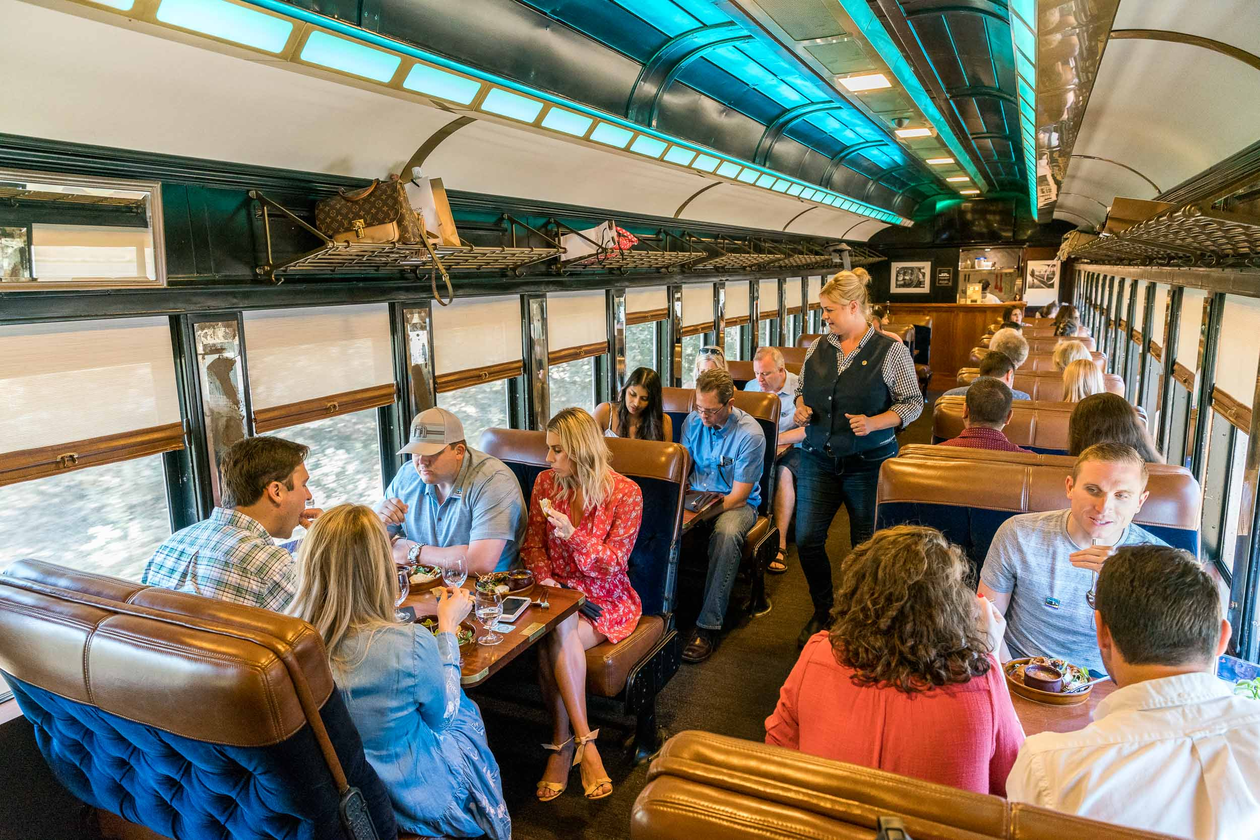 New in Napa Valley - wine country restaurants, wine train, and sports bar.