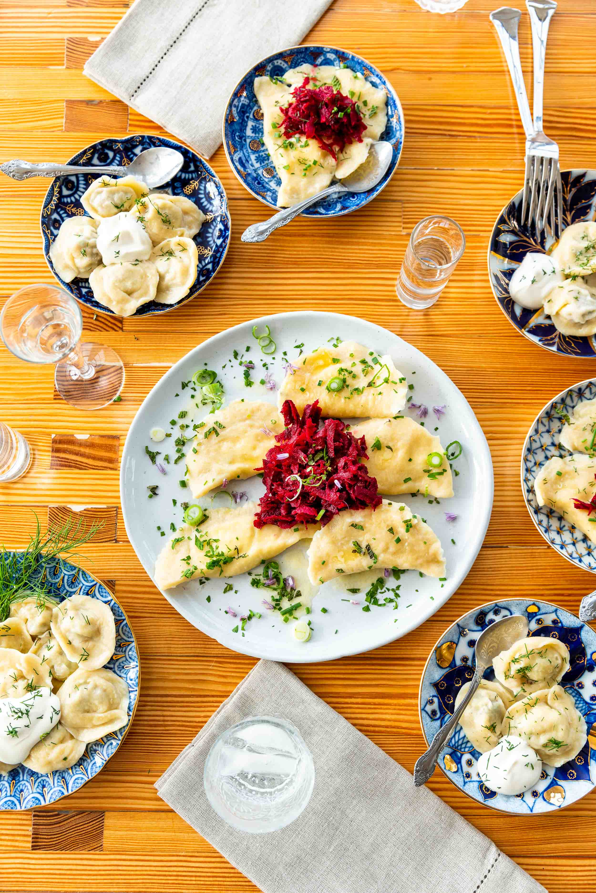 Vodka and dumplings for Edible Marin and Wine Country