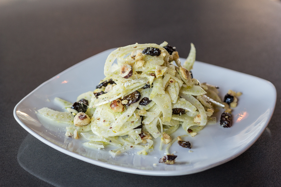 The shaved fennel salad was hearty, crisp and refreshing. Paired with the bruschetta, it was a perfect summer supper.