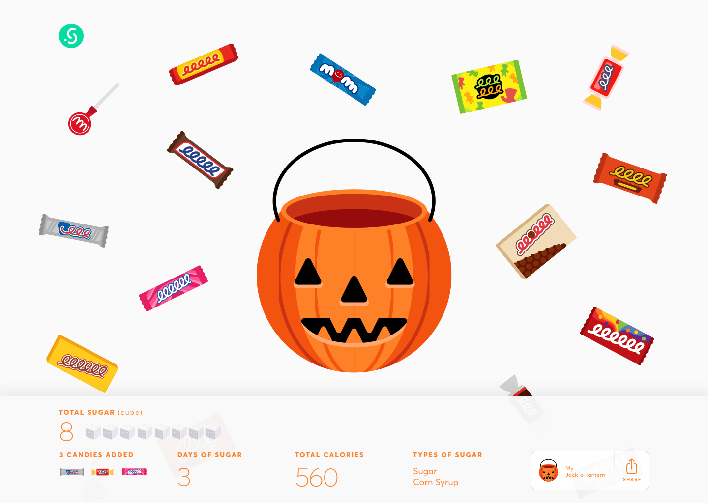 Halloween interactive campaign for Sage Project