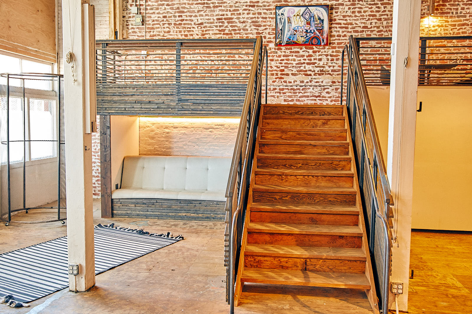First floor stairs to mezzanine