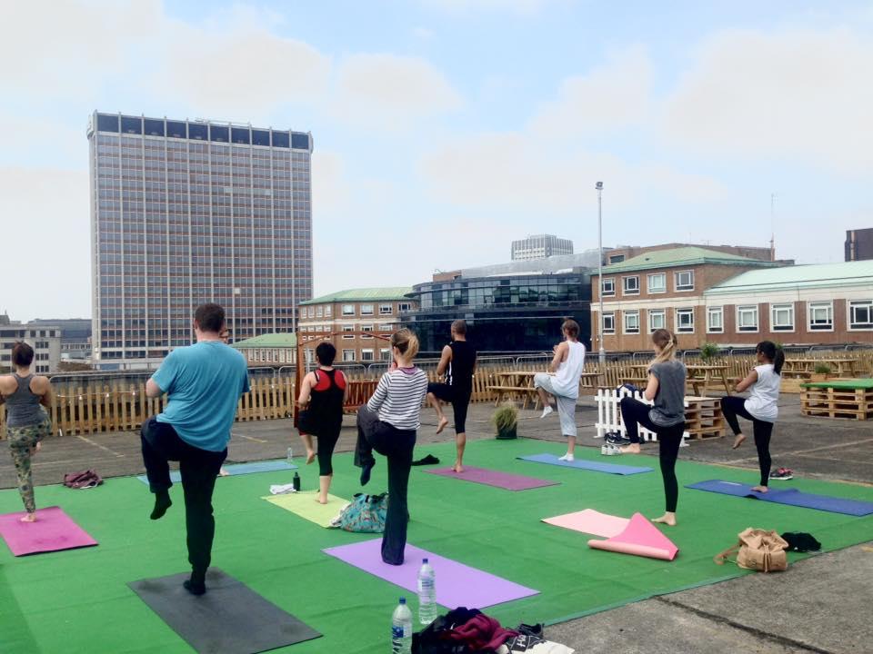 Rooftop Yoga Croydon, South London, The Yoga Edge
