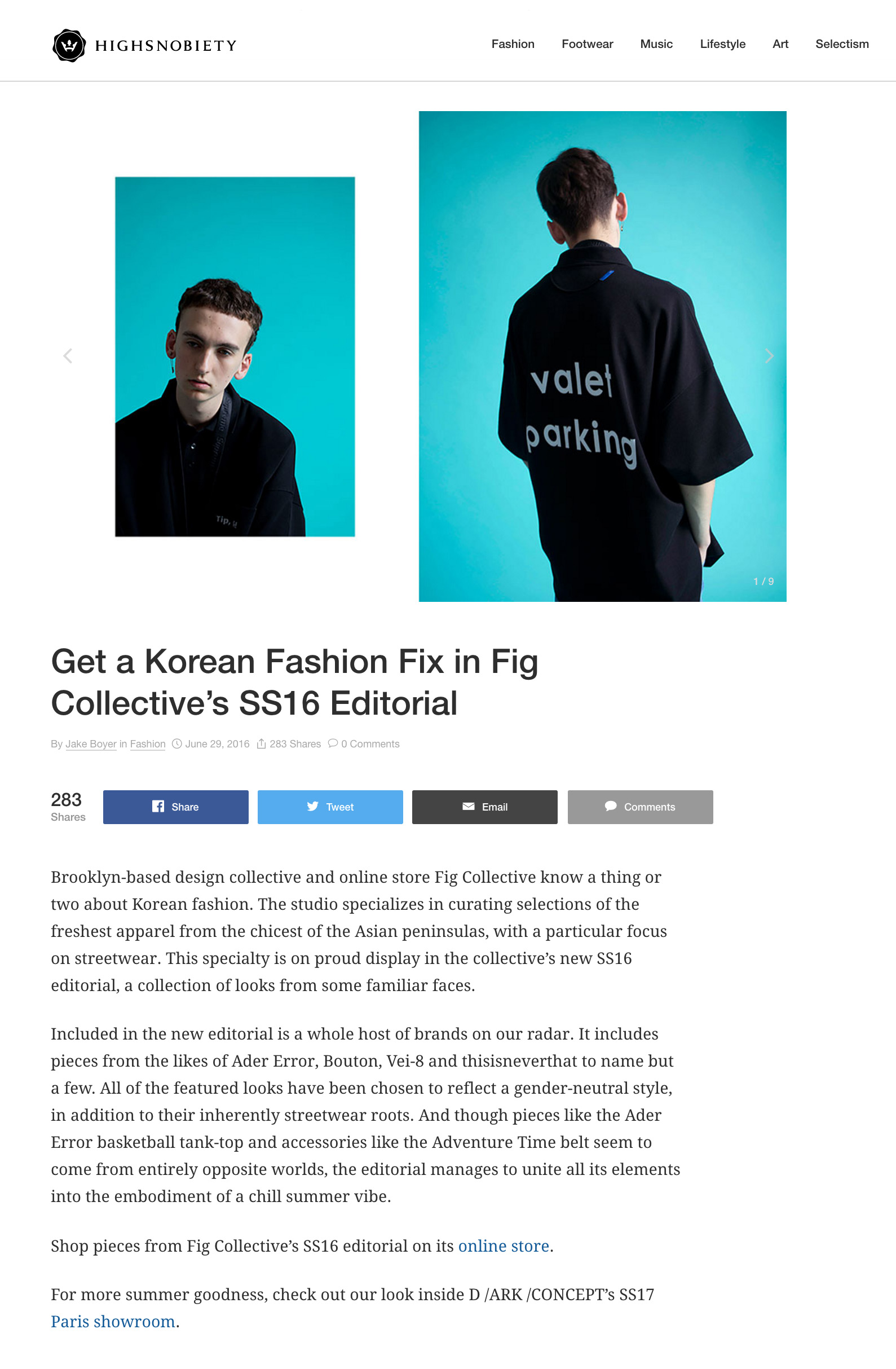 Fig Collective SS16 Editorial High Snobiety