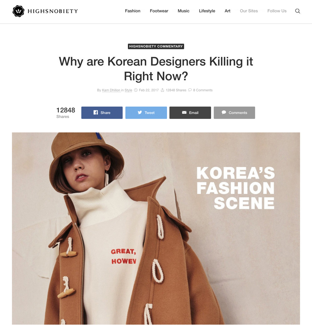 Fig Collective High Snobiety Korean Designers Killing it