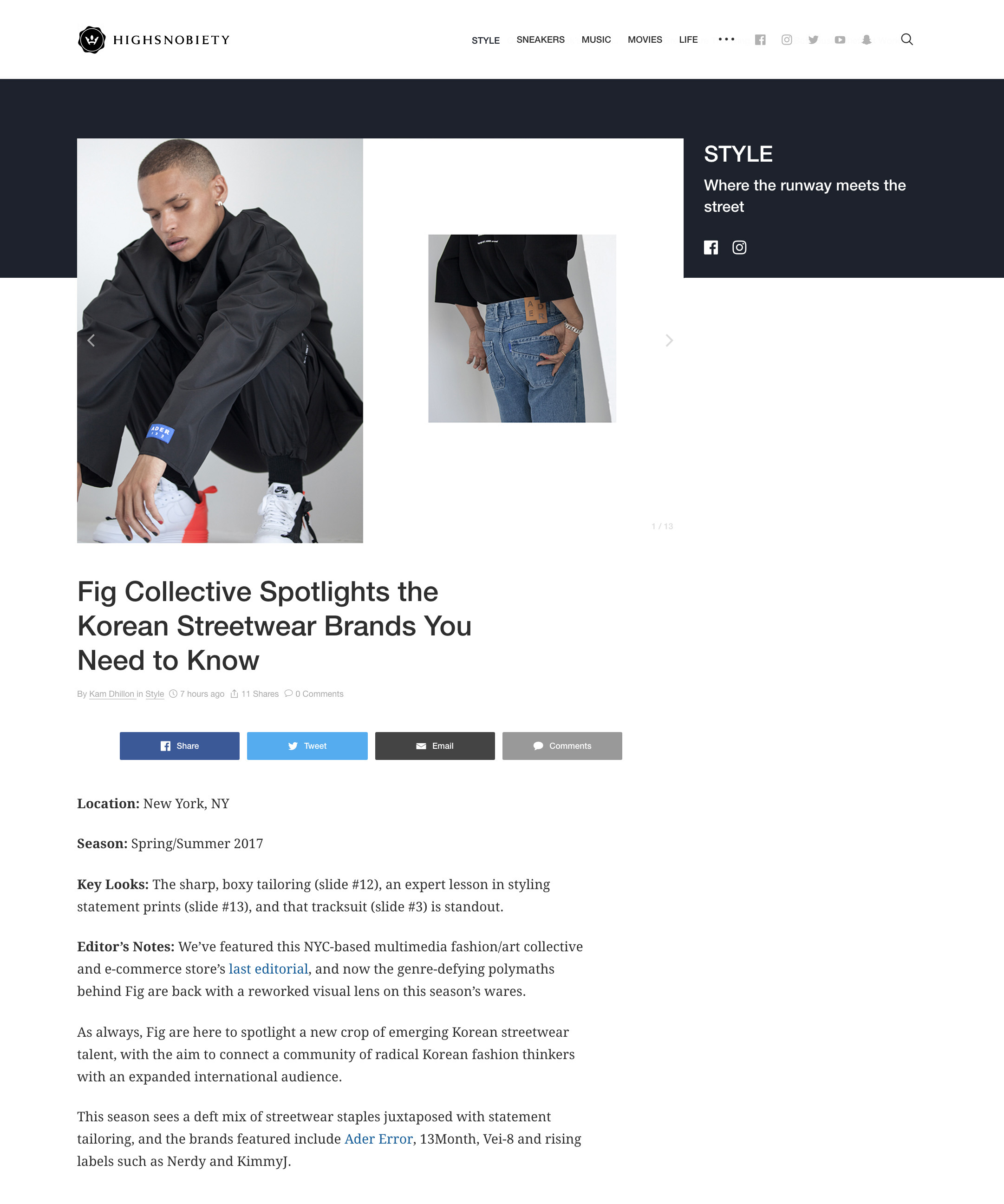 Fig Collective SS17 Edtiorial High Snobiety Poster Boy