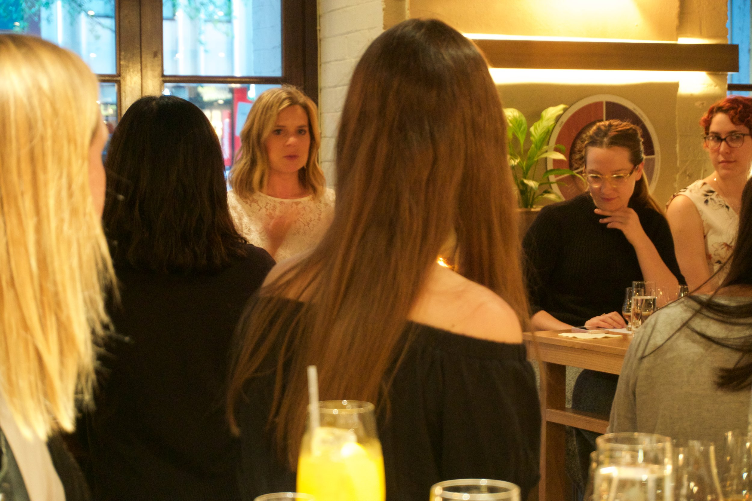 Elizabeth addressing the room at the Women in Whiskey tasting at Tankstream Bar in November 2017