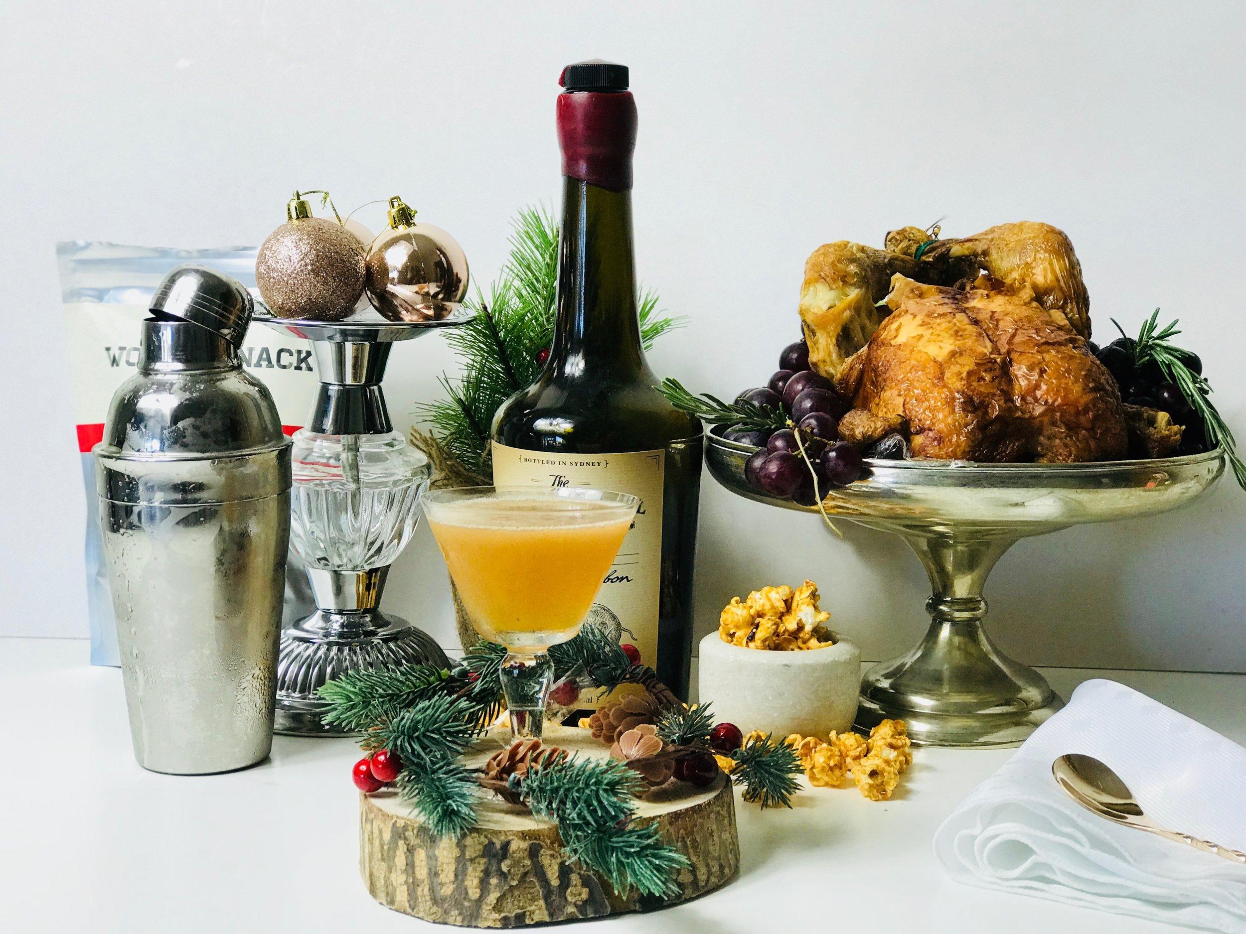Christmas Bourbon cocktail