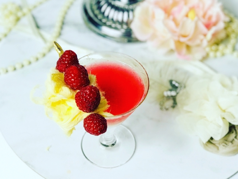 The classic cosmopolitan cocktail, made here with gin and raspberries for a pink drink that is flavourful