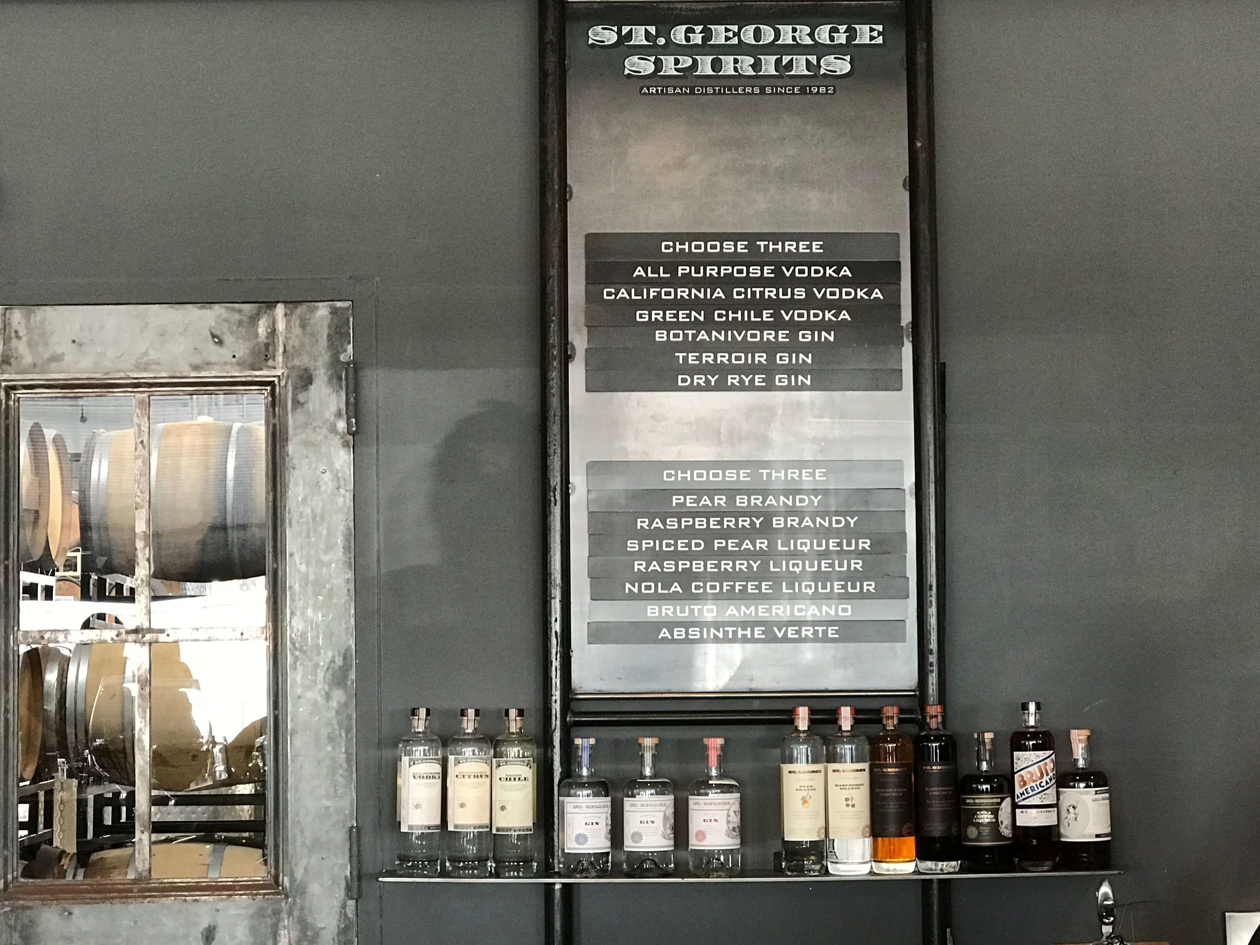 St George Distillery spirits on taste