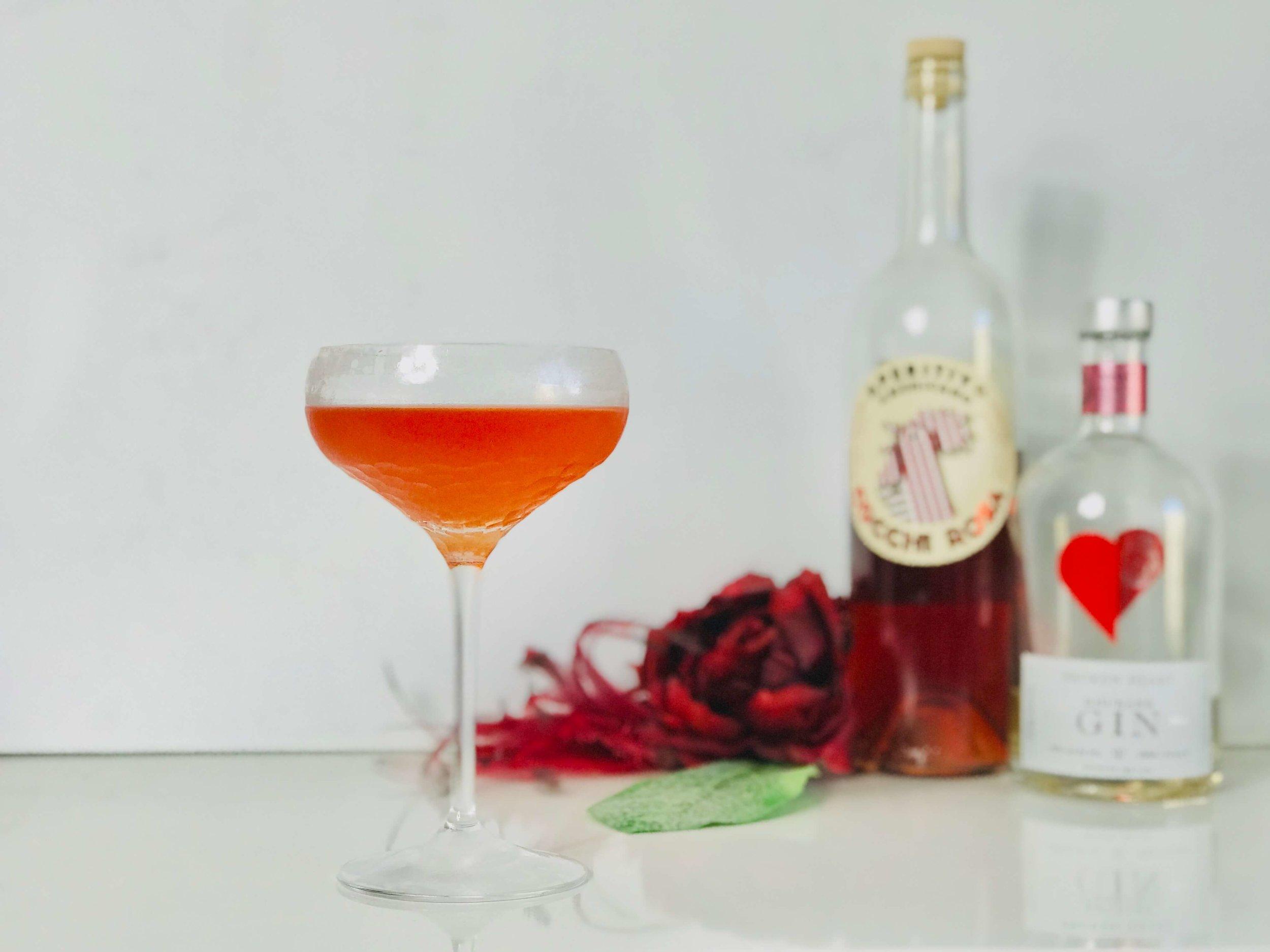 Rhubarb Gin Cocchi Rosa Cocktail