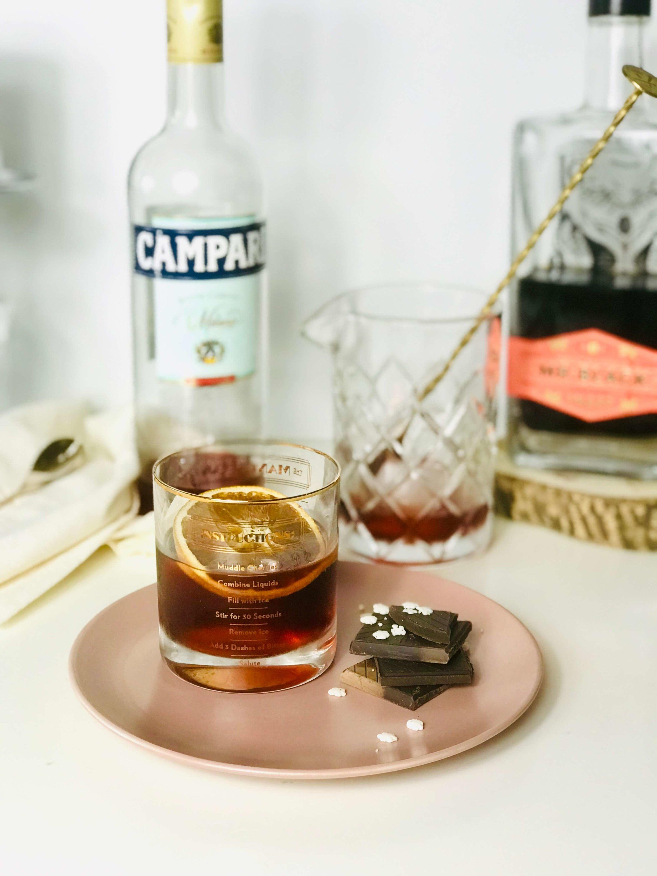 Chocolate Boulevardier Cocktail