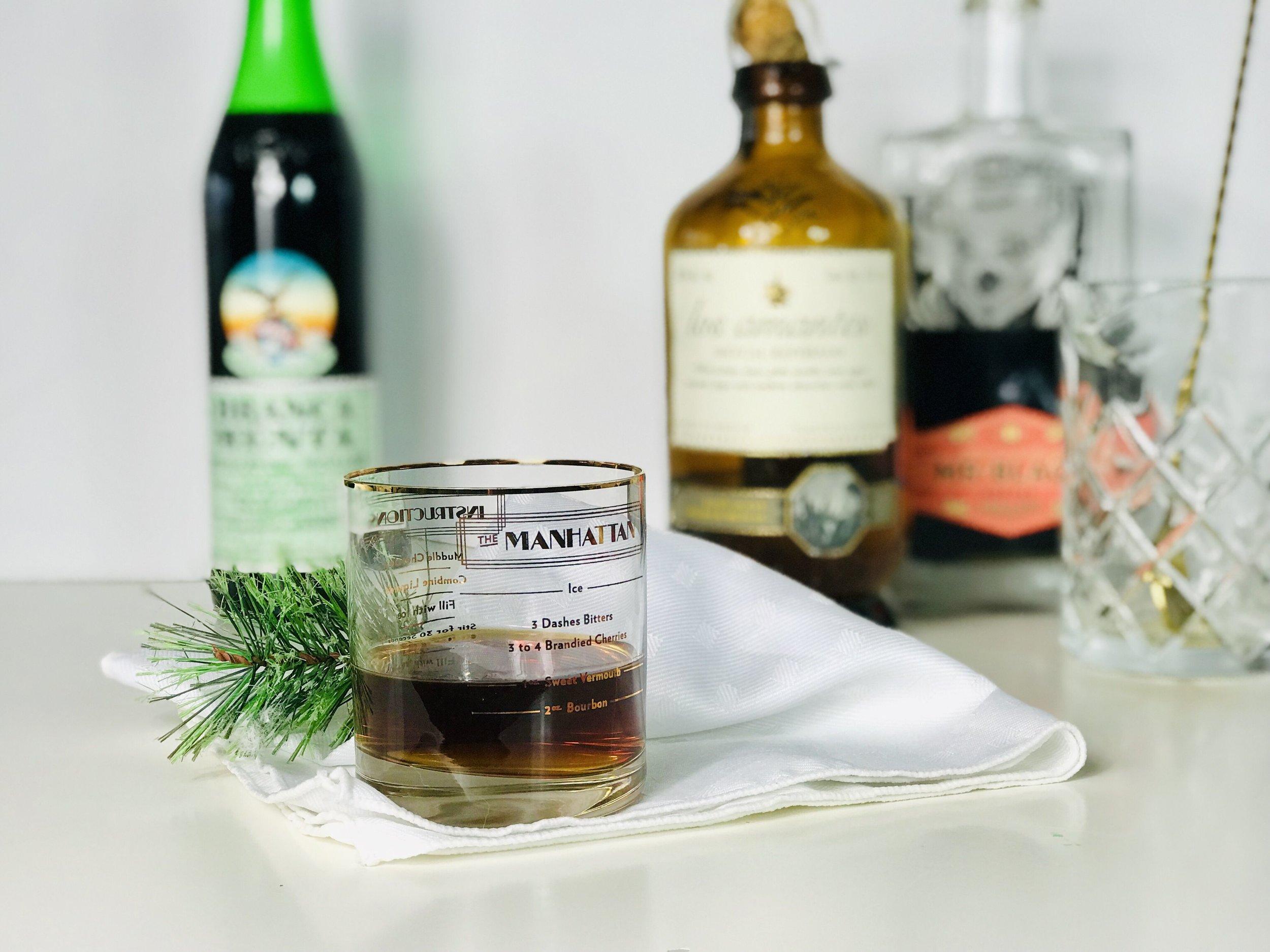 Mezcal coffee mint Manhattan