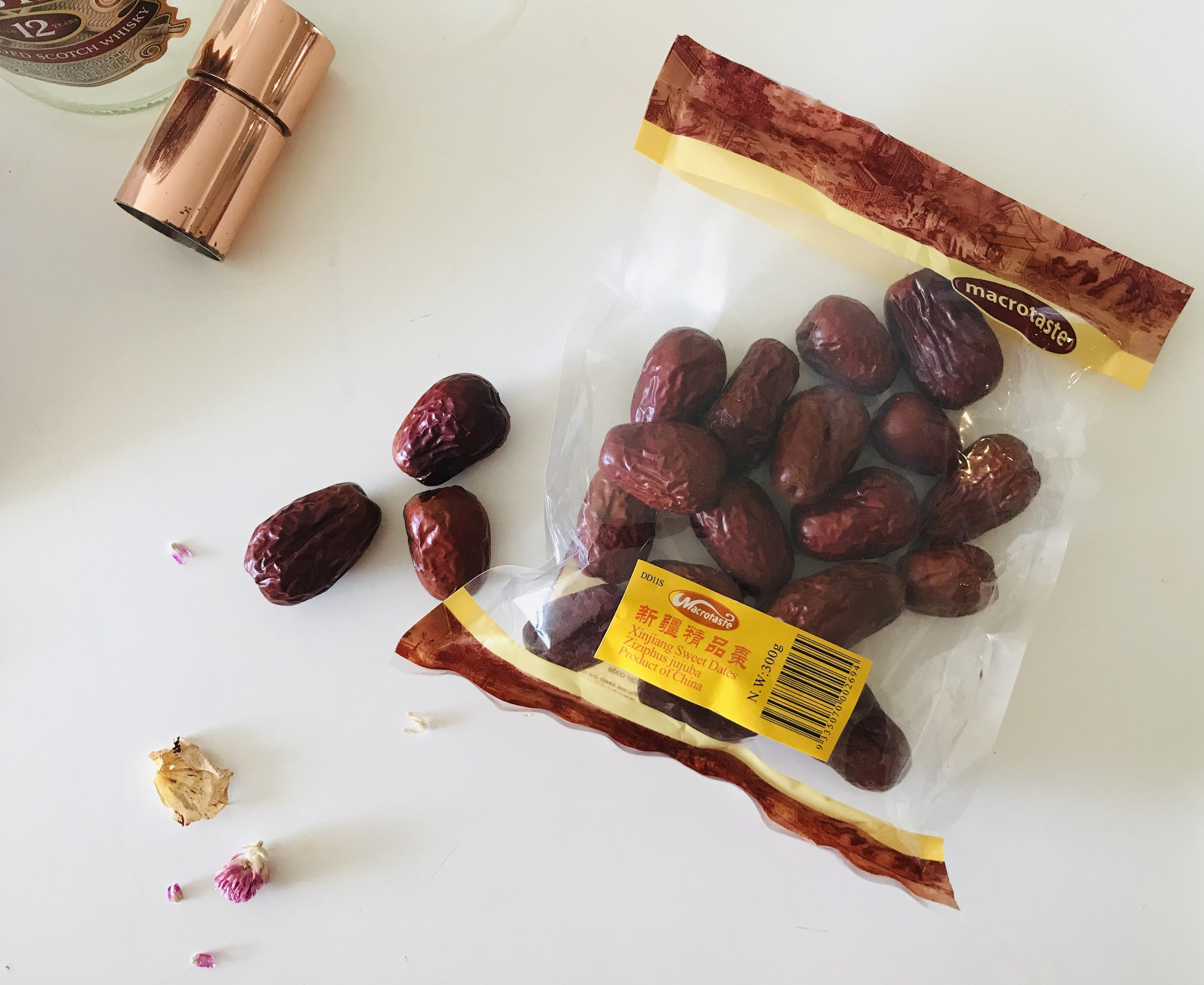 Red dates from a packet