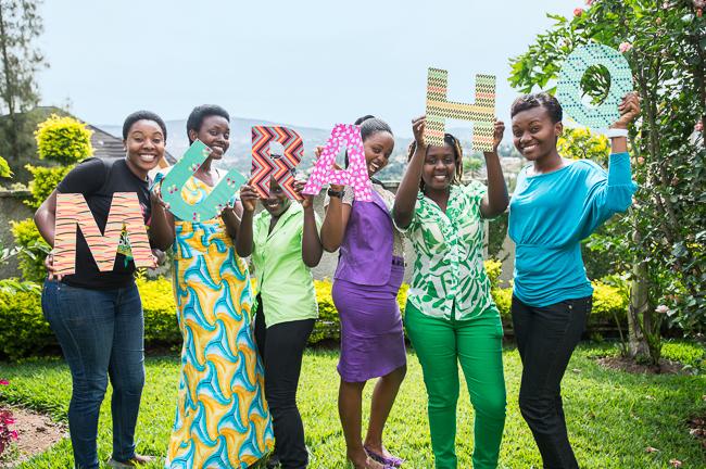 ©2014 Ni Nyaminga/Girl Hub. All Rights Reserved. The journalists of Ni Nyaminga greeting the world and inspiring the girls of Rwanda.