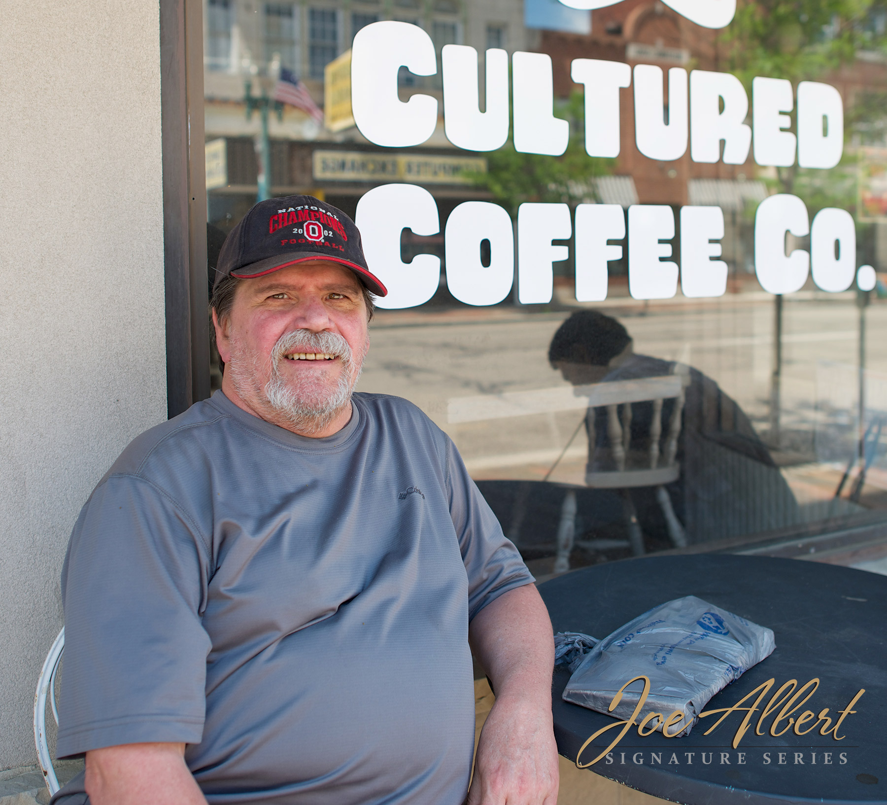We ran into Bruce who was sitting outside of Cultured Coffee, enjoying the day