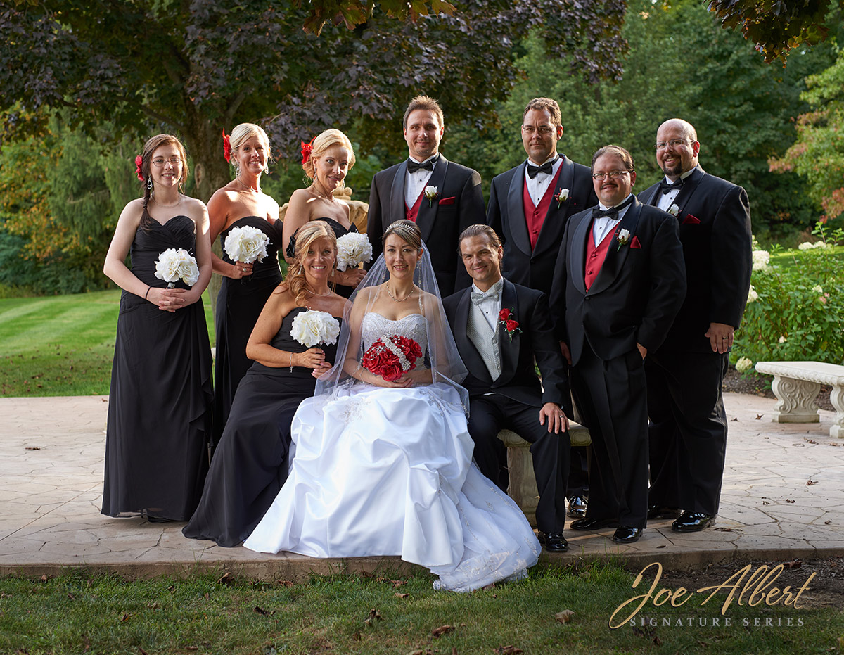What a great wedding party