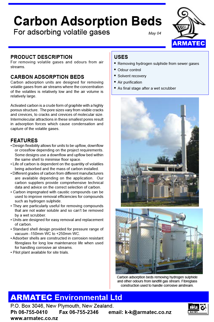 Download the Armatec Carbon Bed Adsorbers Handbook