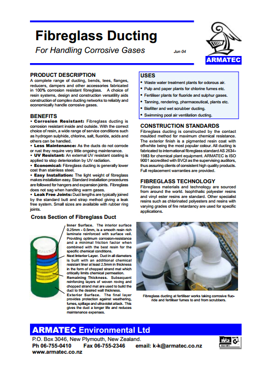 Download the Fibreglass Ducting Handbook
