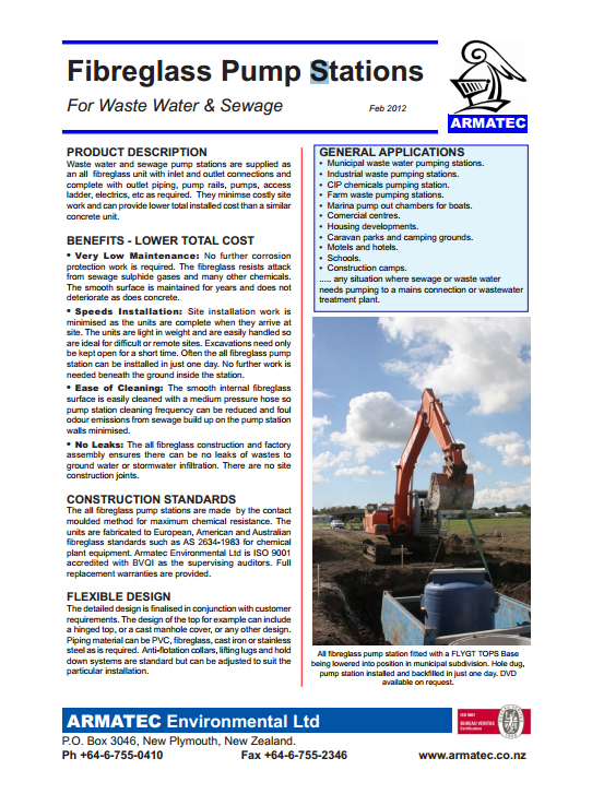 Download the Fibreglass Pump Stations Handbook