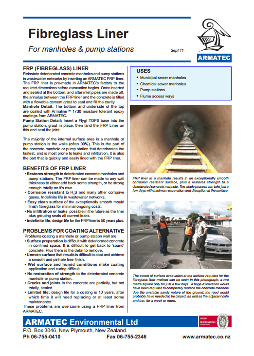 Download the Fibreglass Sewer Liners Handbook