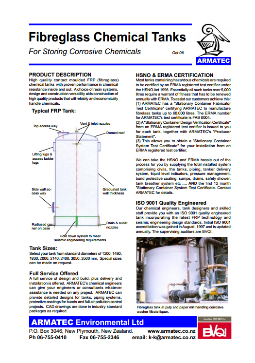 Download the Fibreglass Tanks Handbook