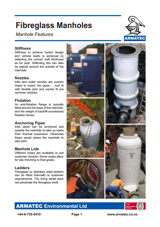 Download the Fibreglass Manholes Handbook