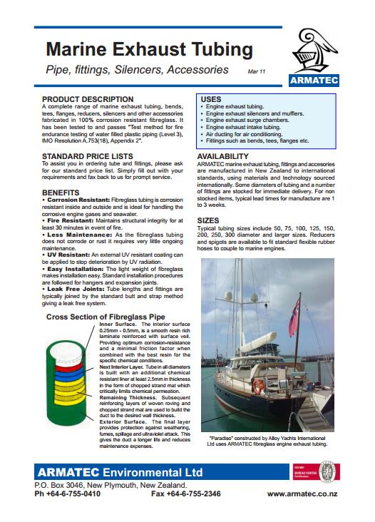 Download the Marine Exhaust Tubing Handbook