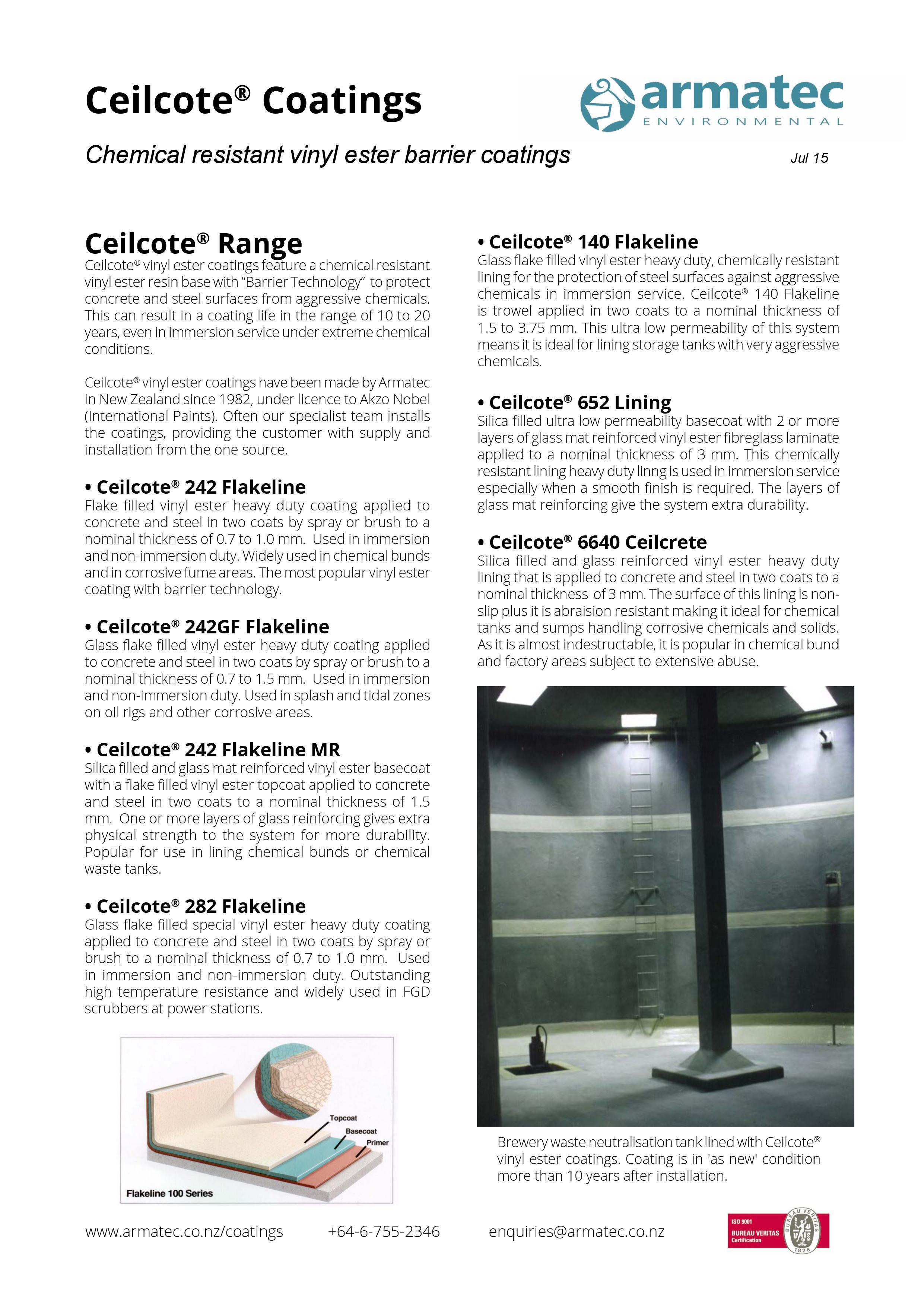 Download the Ceilcote Vinyl Ester Coatings & Linings Handbook