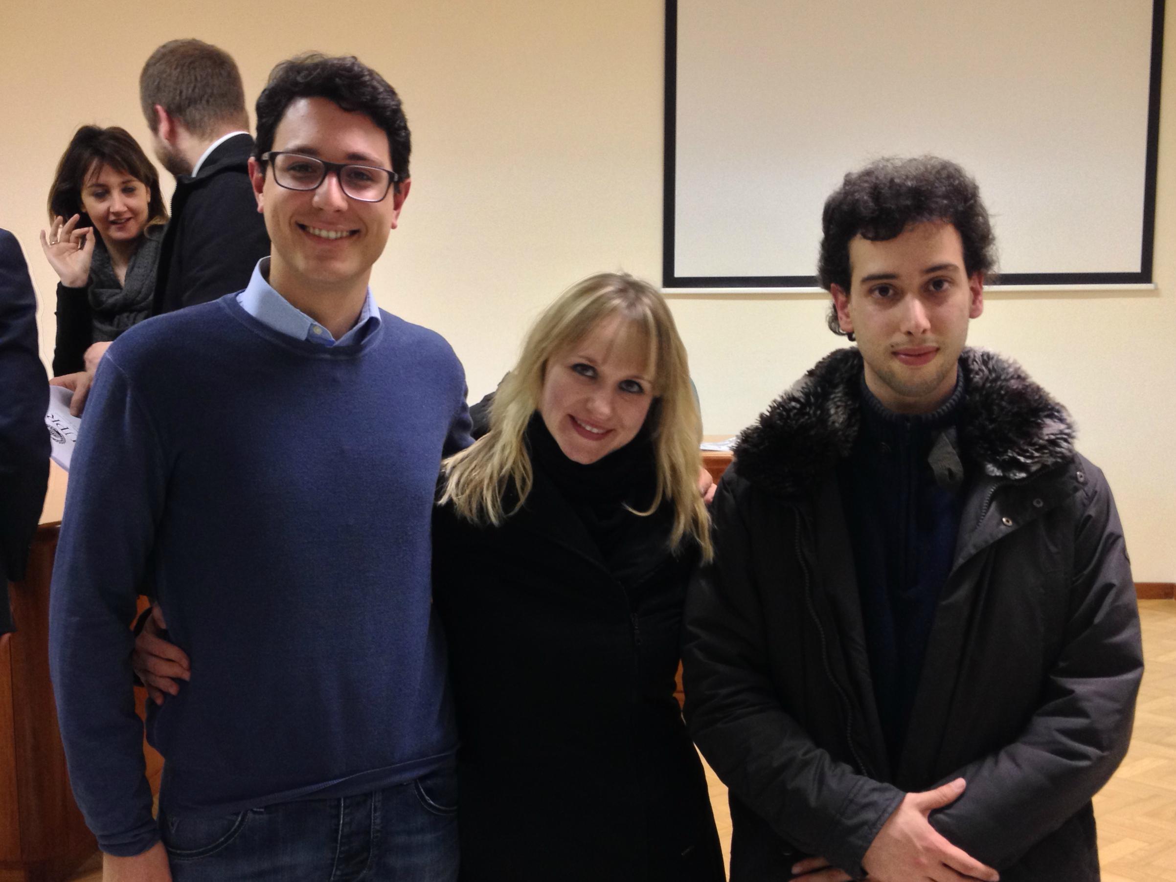 Direttivo precedente - Davide D'Orazio; Tetyana Bratishko; Florio Scifo hanno svolto il Servizio di Vice Delegato, Delegata e Segretario.