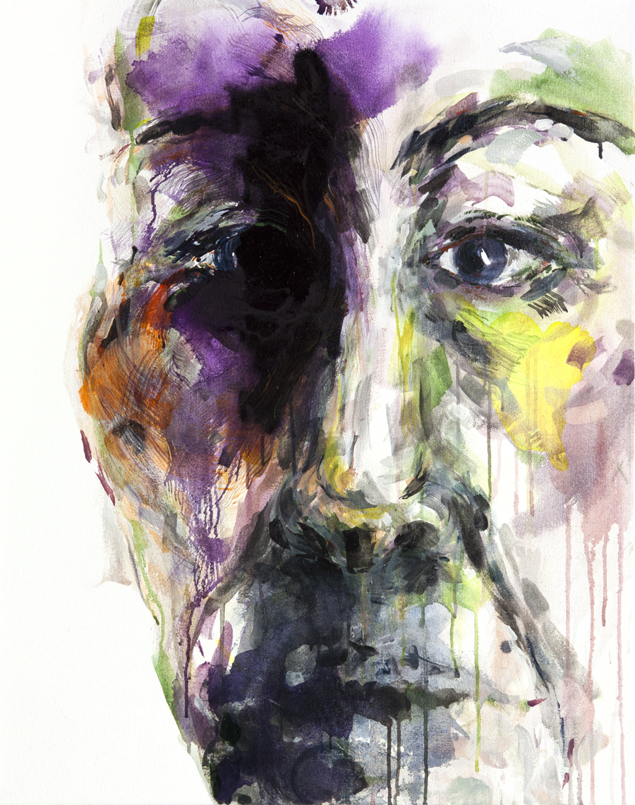 RUNNING TOWARDS YOURSELF 19,          Golden Acrylics on canvas, 75 X 95 cm, 2013