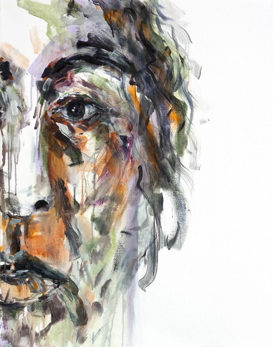 RUNNING TOWARDS YOURSELF 14  Acrylic on canvas  2013