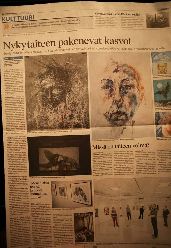 In 2015 one of De Wet's paintings from the body of work Running Towards Yourself was acquired for the permanent collection of the city of Seinäjoki, in Finland.