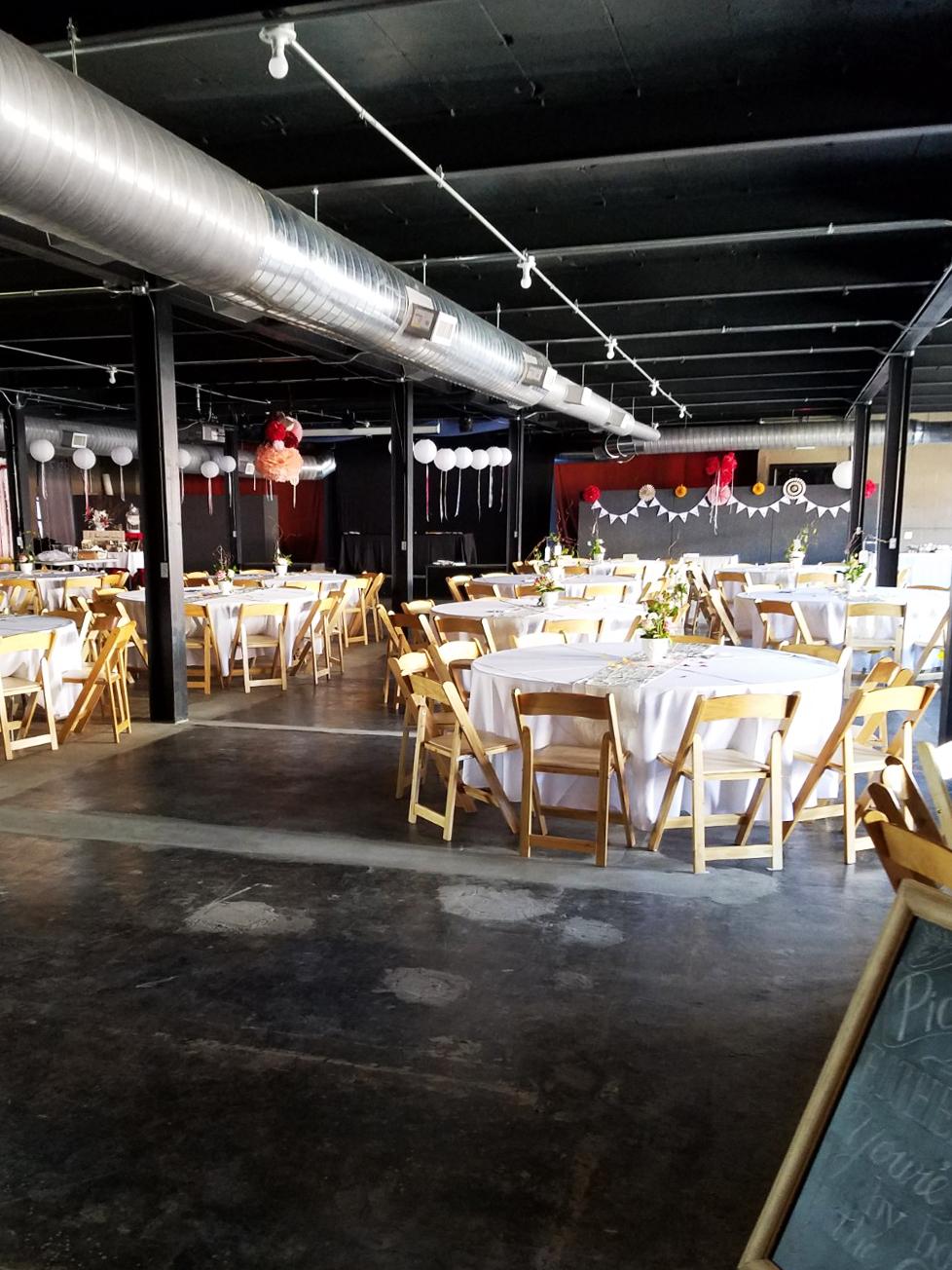 Wedding set-up at Above Kettle Works
