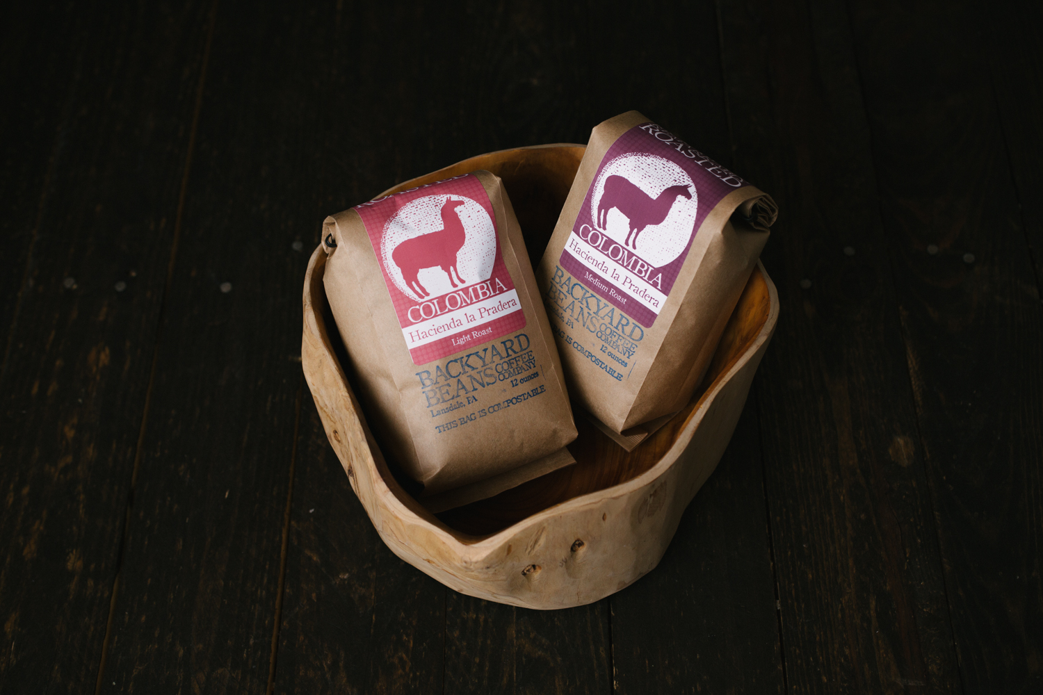 For a limited time our  Colombia Hacienda la Pradera coffee  roasted 2 ways, light and medium!
