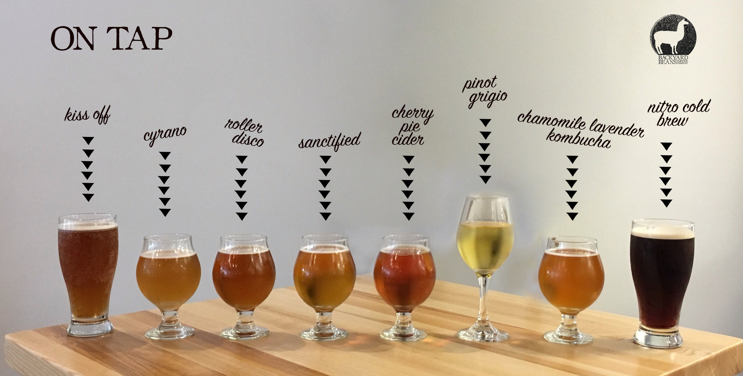 *beer and cocktail selections change regularly, check in with our bartender for what's on tap!