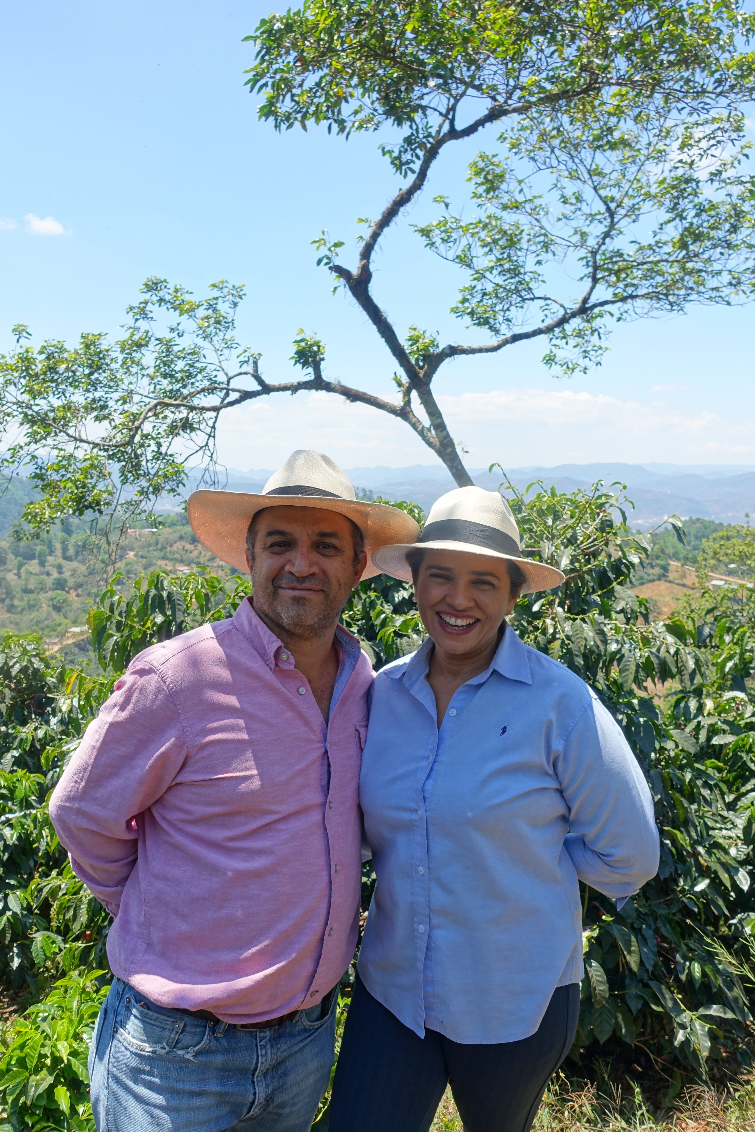 Moises and Marysabel on their farm, photo provided thanks to Kyle at Osito importers