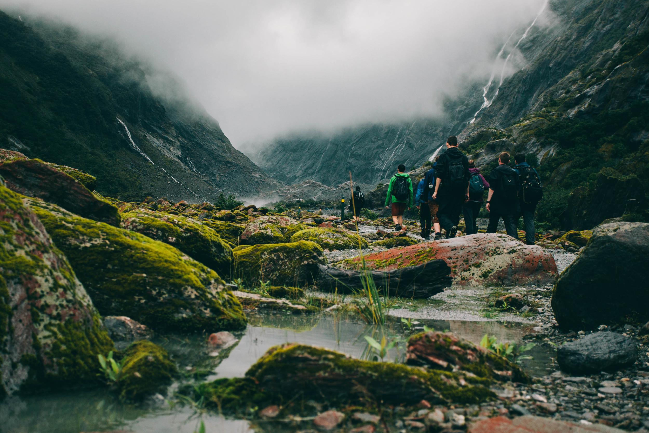 The walk to the Franz Josef Glacier