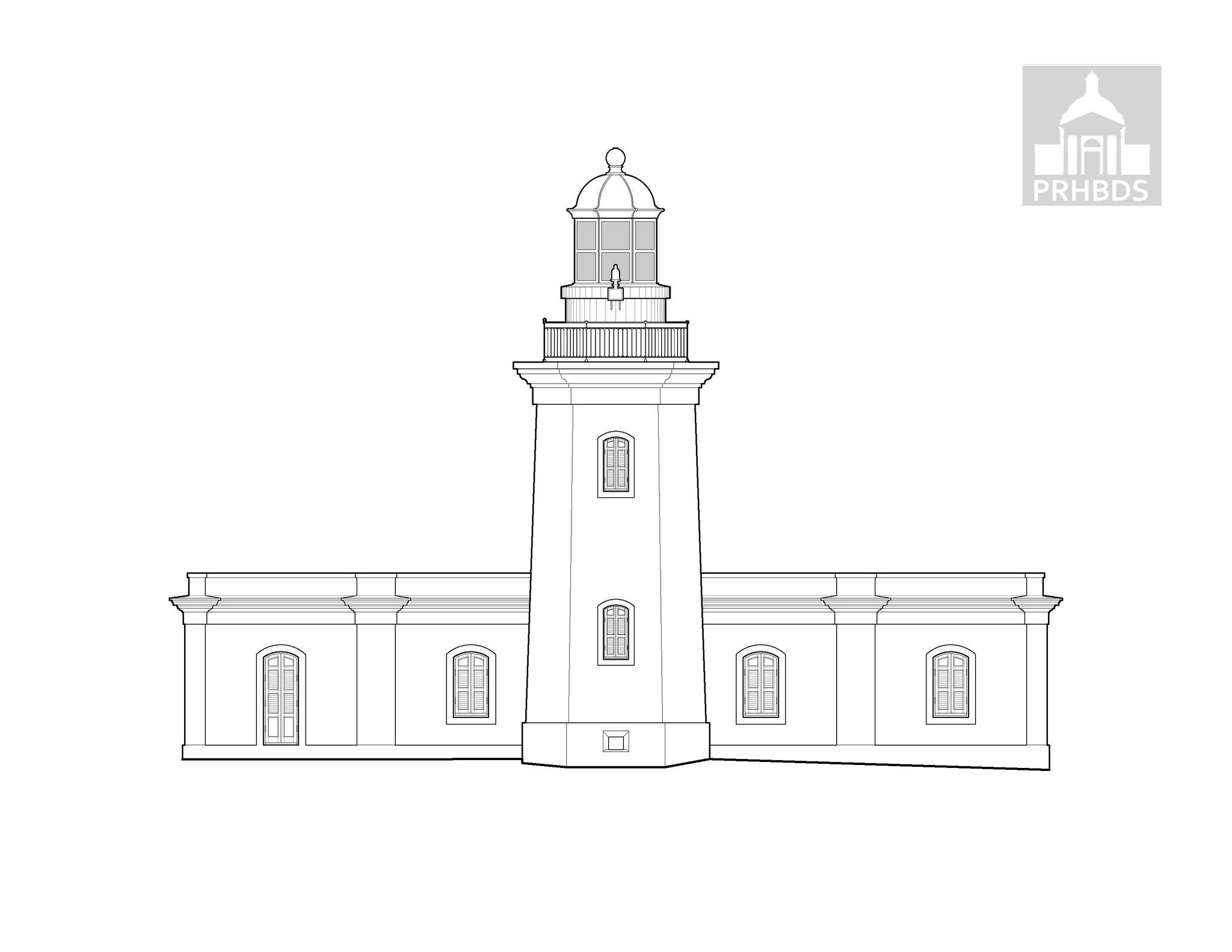 Faro de Cabo Rojo - Cabo Rojo Lighthouse (Morrillos de Cabo Rojo) 1882   Cabo Rojo, Puerto Rico    Enrique Gadea (1882)