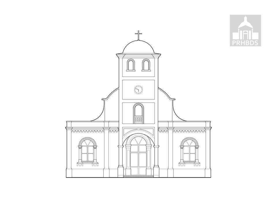 Parroquia San José   Lares, Puerto Rico    Diseñada por: Ramón Soler (1881)    Fachada actual remodelada en la década de los 1920's