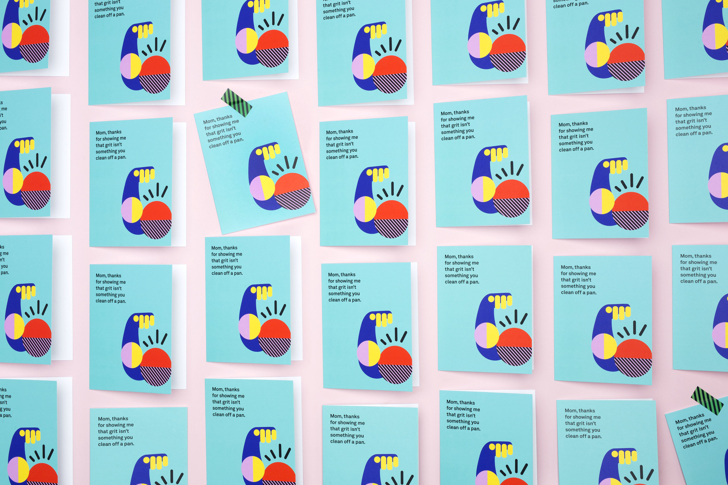 repeating pattern mothers day cards