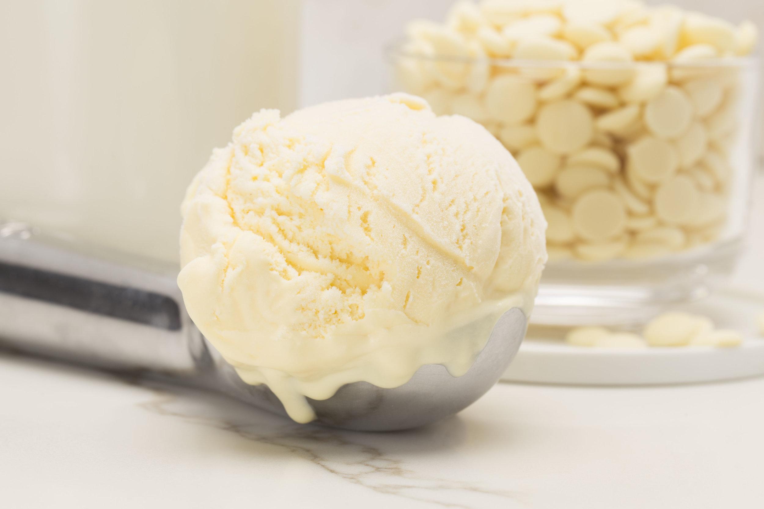 caffe demetre's white chocolate silk ice cream