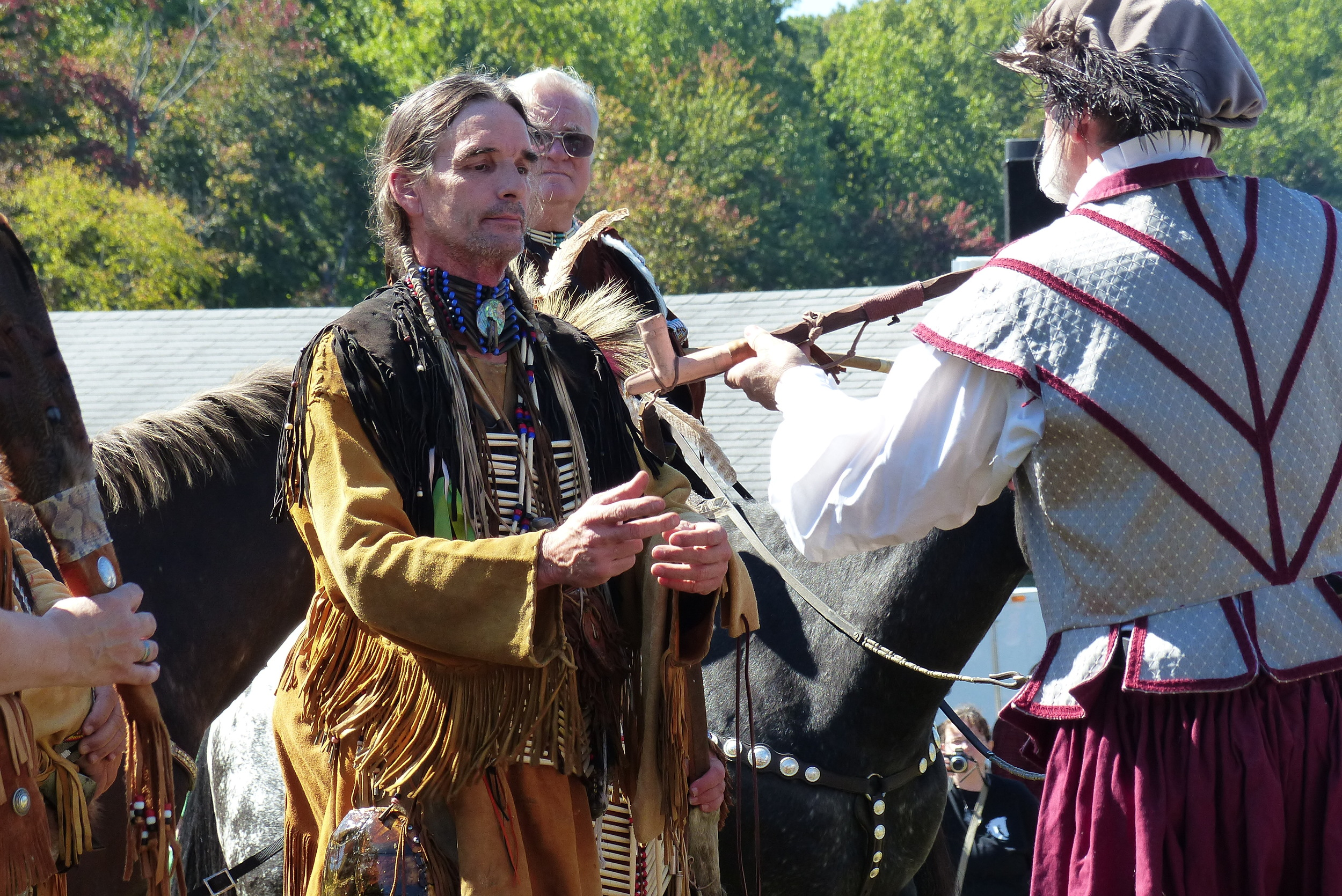 Peace pipe ceremony.