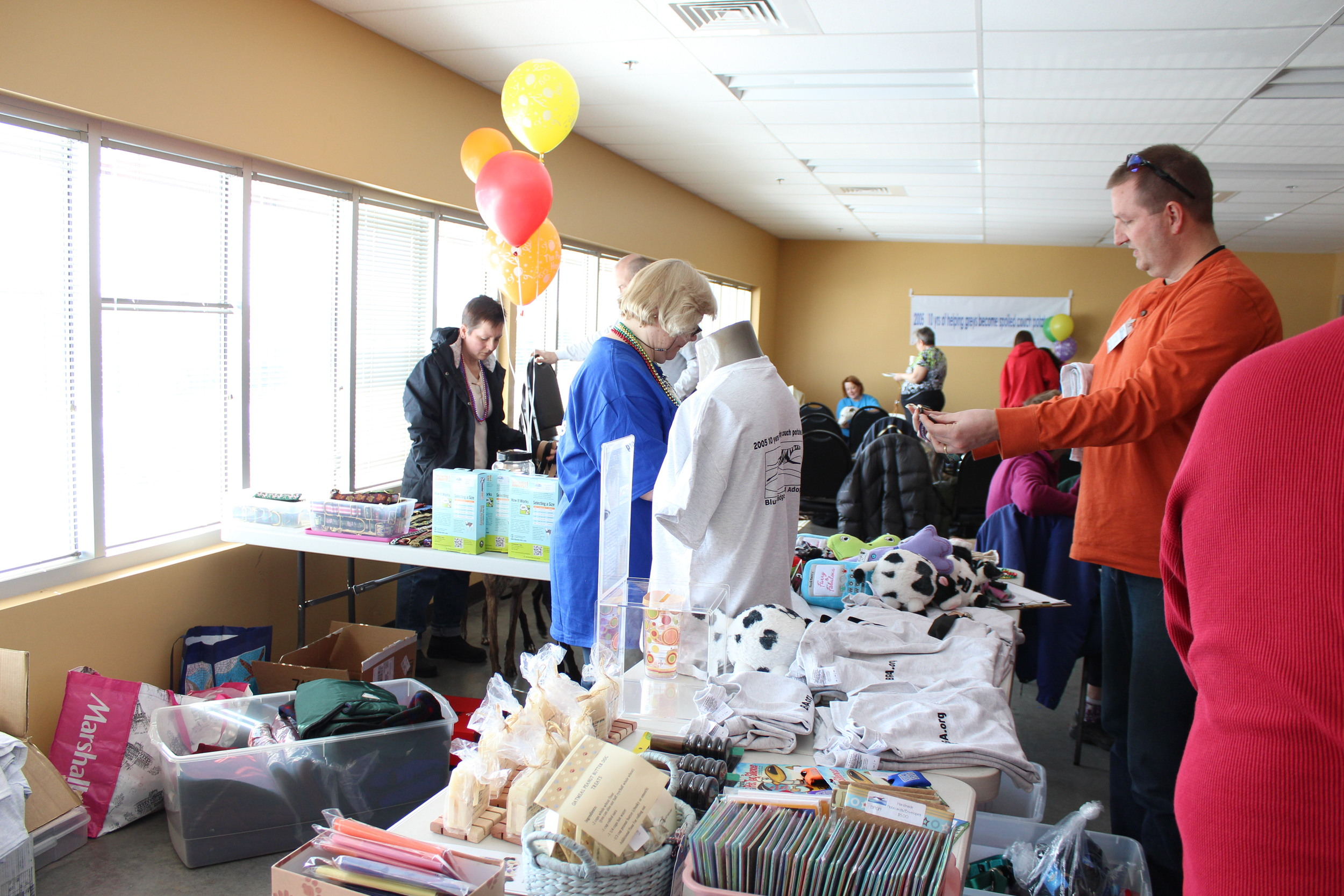 April minding the store as members shop through our many new products.