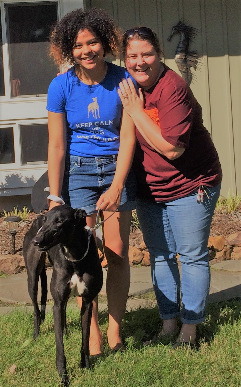 Zoe Smith and her mom fell in love with On Call, now called Nyx after a Greek Goddess. Zoe and Nyx will be traveling buddies back and forth between home here in VA and college.