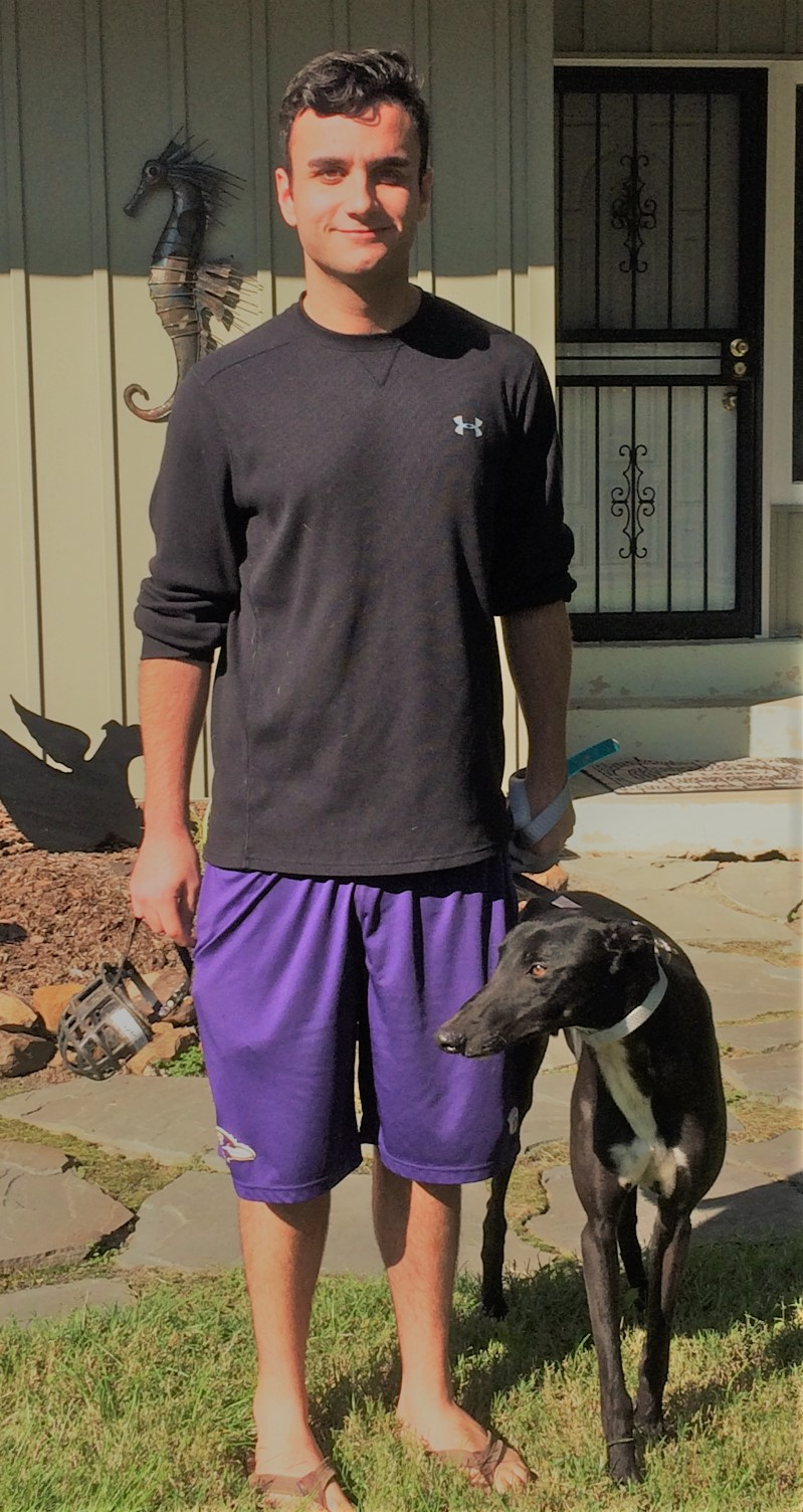Matt Rykiel has adopted an awesome boy, PJ Super Slow, now called PJ. PJ is a beautiful large male with a mellow personality.