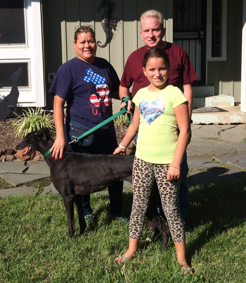 Jason, his wife Maria, and their daughter came to get Vanila Sky, now called Sky. The family is so excited to begin training and introduce her to the rest of the family.